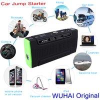12v battery car - WUHAI High capacity mAh Multi function Car Jump Starter V Mini portable AUTO Engine emergency battery start power bank