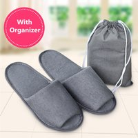 beach fabric - Folding Trave Slippers Mens Womens Tour Journey Hotel Slipper Disposable One time Moccasins