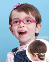 bendable eyeglasses - Babys Glasses Frame with Strap Regular Lenses Size No Screw Safe Bendable Boys Girls Infant Eyeglasses with Cord
