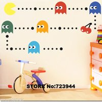 bedroom decals kidsroom decal quotes - Pacman Kidsroom Sticker Home Decor Wall quotes Nursery Wall Decal removable wall murals vinyl wall art decoration