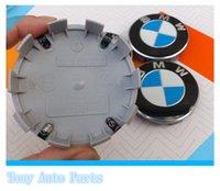 Wholesale mm Blue White Auto accessories emblem Wheel Center Hub Cap Dust proof Badge logo covers