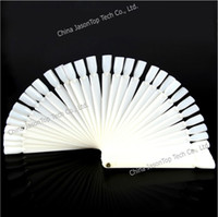 Wholesale Fan shaped Nail Color Display Cards Nail Polish Showing Shelf Fan Color Palette Practice String Color Card Steel Ring