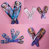 Wholesale 2015 Cheap Lovely cm Length Frozen Elsa Anna Olaf Child Headwear Girls Hair Accessories Wafer Side knotted Clip Hairpin Dhyz08