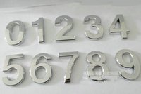 Wholesale Best price Modern Silver House Door Address Number Digits Numeral Plate Plaque Sign Size x30x6mm Convenient Room Gate Number