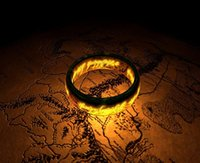 Band Rings lord of the rings ring tungsten - Fashion The Lord of the Rings K Gold Plated Ring Stainless Steel Mens size AND Woman Rings Jewerly Real TUNGSTEN