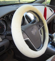 Wholesale 2015 New Excellent Short Plush Car Steering Wheel Cover Warm Lined with Rubber Ring Non slip