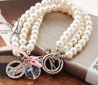 Wholesale Hot Sale Fashion Girls Beaded Strands Bracelets Ladies Jewelry Pearl Bracelet