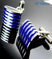 alloy paint colors - Blue Concave Enamel Paint Cufflinks Colors Gemelos Groomsmen Gifts Wedding cf538