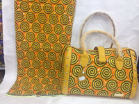 african tote bags - fashion model African hollandais wax matching bags set for party lady handbags on slae BAG007