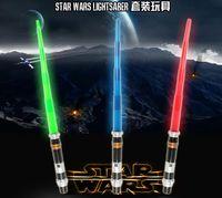 Wholesale Star Wars Jedi Lightsabers The Force Extendable Electronic Lightsaber Led Flashing Light Sword Toys for Children Gift Christmas