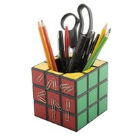 Wholesale Magic Color Player Retro Cube Magnetic Desk Tidy Classic Magic Box Pen Holder Novelty Stationery Storage
