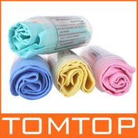 Wholesale 4 Colors PVA Chamois Car Wash Towel Cleaner car Accessories Screen Cleaning Hair Drying Cloth with Tube