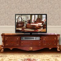 Wholesale European style TV cabinet TV cabinet wood export American country furniture TV in the living room cabinet cabinet cabinet