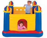inflatable bouncer - USA Intex48259 juegos inflables inflatable bouncer castles child jumping toys bouncy castle trampoline bounce house castillos hinchables