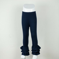 Wholesale newest summer boutique simple unique ruffle pants for baby girls