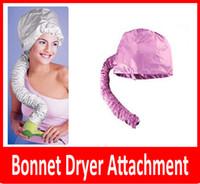 Wholesale Portable Hair Dryer Soft Hood Bonnet Attachment Haircare Salon Hairdress Treatment Cap Color Pink and Grey Randomly Ship