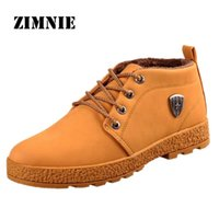 Wholesale New PU Leather Men Boots Breathable Fashion Cotton Brand Ankle Boots Shoes Men For Spring Autumn Shoes