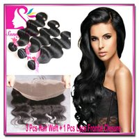 cheap hair - cheap Brazilian Lace Frontal Closure With Bundles Body Wave Bundles With Lace Frontal x4 Human Hair Full Lace Frontal Ear To Ear