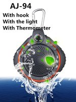 audio thermometer - Sports Waterproof AJ94 With hook With Thermometer Wireless Bluetooth Speaker TF AUX USB Mini Subwoofer Bluetooth Portable Outdoor Speakers