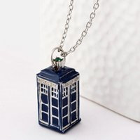 vintage jewelry - Doctor who Tardis pendant necklaces vintage classic mysterious Ancient blue antique personalized statement Jewelry charms for boys girls