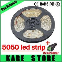 Wholesale X2pcs SMD M Leds a roll Led light Strip Warm white White Red Yellow Blue Green led strips DC connector
