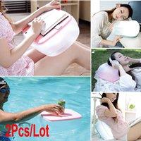 Cheap 2Pcs Lot Multifunction Inflatable Pillow Cushion Folding Air Desk Table 3Colors 18899