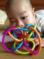 baby teether feeder - Months Baby Manhattan Toy Winkel Rattle Sensory Teether Activity Rings Baby Feeder Silicone Teething Toys