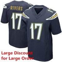 Wholesale Philip Rivers Football Jerseys Navy Blue Elite Jerseys Keenan Allen New Season Football Shirts for Men Players Sewn Uniforms