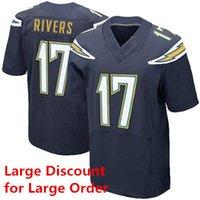 Wholesale Philip Rivers Football Jerseys Navy Blue Elite Jerseys Keenan Allen New Season Football Shirts for Men Players Sewn Uniforms