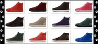 Wholesale Men and Women s Matte Leather with Spikes High Top Sneakers Genuine Leather Causal Running Shoes colors