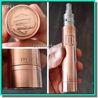 Wholesale Most popular penny mod full mechanical penny mod clone red copper penny mod with hidden button penny battery tube DHL