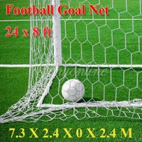 Wholesale High impact Full Size x ft Soccer Football Goal Post for Nets Straight Flat Back x2 m Double Knotted Polypropylene Twine order lt no