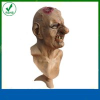 Wholesale Halloween Masquerade Party Props fester ulcerated nose and head Horrific ghost mask Full Head Mask halloween mask DHL