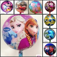 aluminium balloons - 18 Inch Cartoon Helium Foil Balloons Frozen Despicable Me Spiderman Kinds Design Ballons For Kids Birthday Wedding Party Decoration