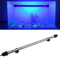Wholesale New Aquarium Fish Tank cm LED SMD Blue White Bar Light Underwater Submersible Waterproof Clip Lamp Decoration Lighting