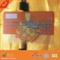 Wholesale free design CR80 CMYK printing plastic pvc clear card for business