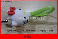 Wholesale New Magnet Micro USB Data Charging cable with Phone chain and retail package