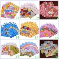 Wholesale 2015 color mickey spiderman pooh frozen sofia princess kt car Birthday Festive Tissue paper handkerchief party supplies TOPB2895 set