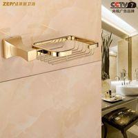 Wholesale Soap box soap net soap dish holder bathroom hardware bathroom accessories whole European antique copper and gold soap network