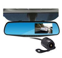 night view lens - Dashcam Hd Mirror Car Dvr Gps Dual Lens Video Camera Recorder Parking Video View angle Mega Pixels Car Night Vision Camera