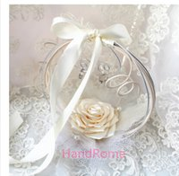 american basket - Western style wedding flower basket ring plate of the European and American creative flower ring pillow up ring box wedding