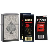 ace lighter - Zippo Ace Filigree Black Ice Lighter Flint Cards Wick