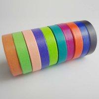 Wholesale 2016 Colorful Decorative Washi Rainbow Sticky Paper Masking Adhesive Tape Scrapbooking DIY