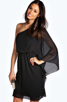 Cheap Black One Shoulder Loose Dress - Free Shipping Black One ...