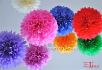 Wedding best tissues - Best Gifts Tissue Paper Pom Poms Wedding Party Baby Living Room Decoration Home Pompoms Festive Fashion Party Decorative Flowers