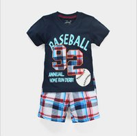 t shirts manufacturer - New summer T shirt suit two piece suit for children manufacturers