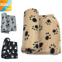 Wholesale Paw Print Lovely Design Pet Dog Cat Paw Prints Fleece Dog Blanket Mat Colors Pet Product for Air Conditioning Room cm