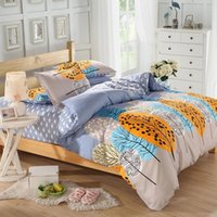 Cheap Brand New Pastoral Series High Quality 100% Cotton Duvet Cover Bedding Set King Queen Size Dusk Style Bed Sheets Pillowcase MIFE