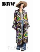africa culture - New Autumn Women Africa National Culture Prints Loose Long Sleeves Coat Ladies Fashion Long coat Outerwear