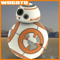 bb orange - Top Hottest Star Wars Toy BB8 Roly poly Music Toys Force Awakens BB Action Figure tumbler Roly poly Toys Christmas Gift fast Ship DHL free